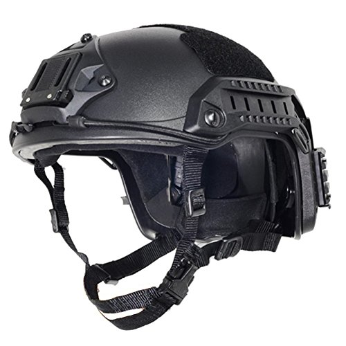 Black Free Size Tactical ABS Airsoft CS Paintball Security Helmet