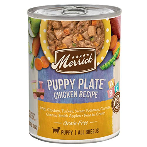 Merrick Grain Free Wet Puppy Food Puppy Plate Chicken Recipe - (12) 12.7 oz. Cans