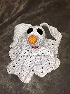 Ghost Dog Lovey Security Blanket - Skeleton - Lovey - Security Blanket - Baby Photo Prop - Infant - Ghost - Christmas Gift - Baby Shower - Halloween - Dog