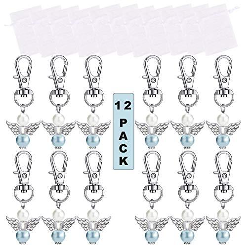 schutzengel anhänger perlen engel anhänger DIY engelanhänger gastgeschenk Perlenengel Anhänger Taufe Anhänger schutzengel anhänger set (C)