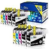 【LxTek】Brother用 ブラザー互換 LC211-4PK インクカートリッジ 10本セット(4色セット 2 黑2本) LC211 『互 換/2年保証/大容量/残量表示/個包装』