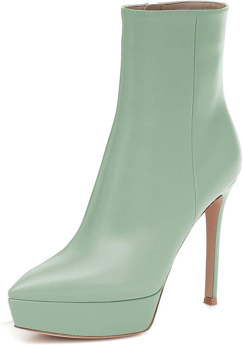 YDN Women Chic Stiletto High Heels Super Branded goods intense SALE Platform Ankle Pointed Boots