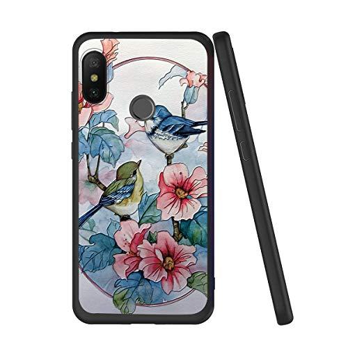 Yoedge Funda para Xiaomi Mi A2 Lite, Slim Soft Silicona Gel TPU Case a Prueba de Golpes Lujo 3D Relieve Floral Estampado Back Cover...