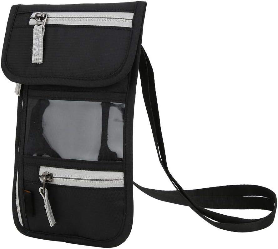 Genuine VGEBY Passport Bag Nylon Black Wallet Department store Travel Fa Multifunction