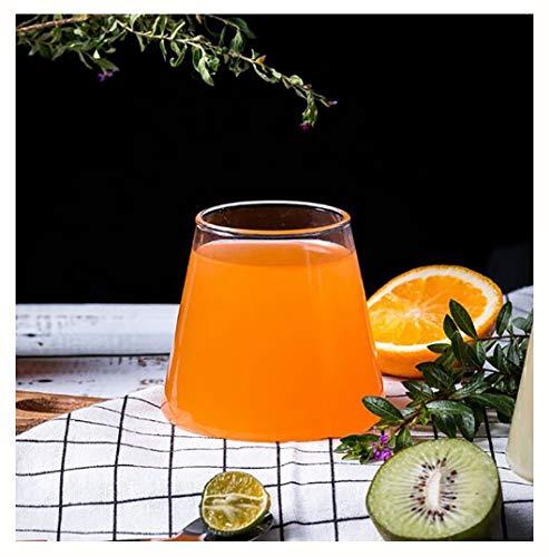ZHFZD Glazen drinkglas, voor in de vorm van een sneeuw, berg, creatieve Japanse stijl, thee, sap, bar, cocktailglas