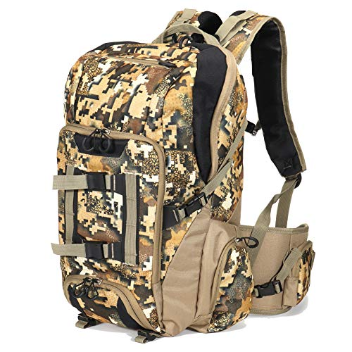 Auscamotek Camo Hunting Backpack Camouflage Bag Waterproof Day Pack for Fishing Hiking Camping Digital Desert