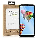kalibri Folie kompatibel mit OnePlus 5T - 3D Glas Handy Schutzfolie - auch für gewölbtes Bildschirm Schwarz