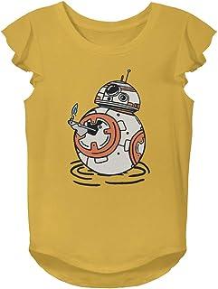 Star Wars Girls' T-Shirt, Gold, Small