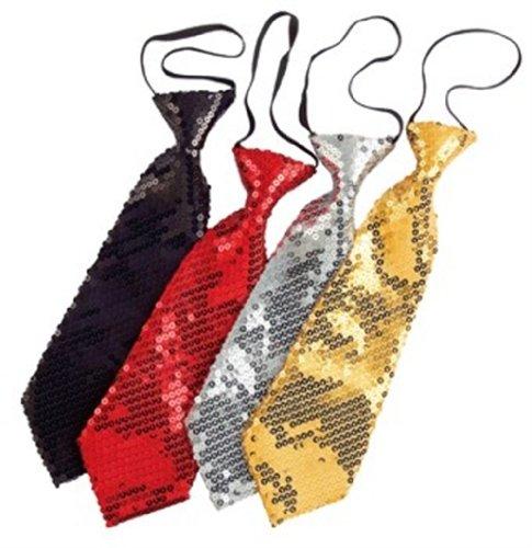 Rubies 6 286062 - Pailetten-Krawatte schwarz