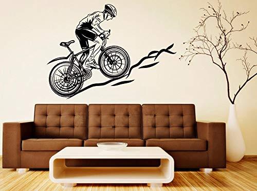fancjj Coole Sport Fahrrad Mountainbike Aufkleber Wand Vinyl Aufkleber Home Decor Wohnzimmer Schlafzimmer Abnehmbare Kunst Wandbilder 98x110cm