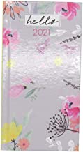 2021 Floral Calendar Slim Week to View Yearly Diary, 2 Designs (Green)