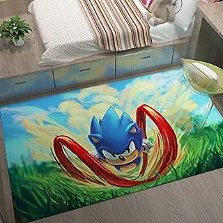 GOOCO Tapis - Zone Tapis Sonic Le hérisson Antidérapant Sonic Le hérisson pour Chambre à Coucher Mode Tapis Salle Bains hô...