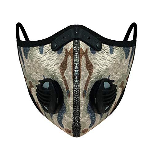 Riding Hanging Ear Face Macks, Bicycle Bandanas Bandanas, Outdoor Dustproof, Anti-Haze, Breathable Activated Carbon Macks