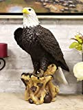 Ebros Gift American Pride National Emblem Bald Eagle Statue 16.5' H Independence Day American Patriotic Glory Bald Eagle Home Patio Decor Figurine