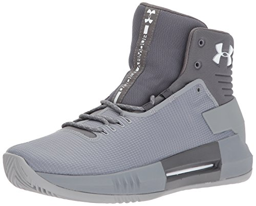 Under Armour Men's Team Drive 4 Basketball Shoe, Steel (106)/Graphite, 10.5