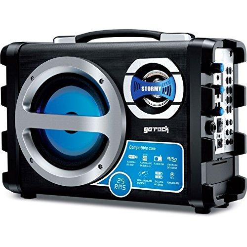 Altavoz portátil con karaoke 25W GO-ROCK GR-ST10BL