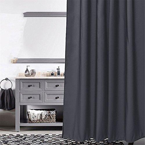 MIWANG Le gris foncé des rideaux de douche, salle de bains nordiques de rideau de douche wc rideaux Rideaux Tissu mural étanche résistant à la moisissure d'épaisseur, de largeur 120cm* 180cm de hauteur (Hook)