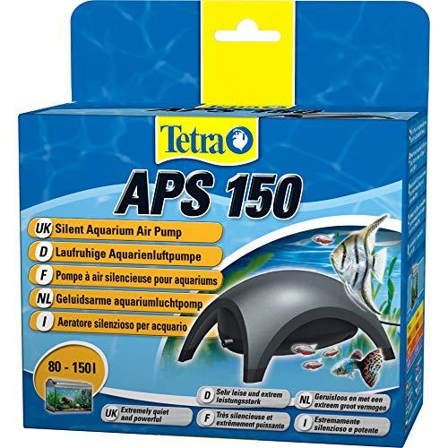 Tetra APS 150 Aquarium Luftpumpe - leise Membranpumpe für Aquarien von 80-150 L, schwarz