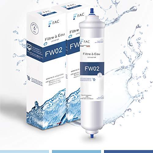 2 * Samsung DA29–10105J - Wpro USC100/1 - Filtre à eau universel externe pour réfrigérateur Américain - marque française