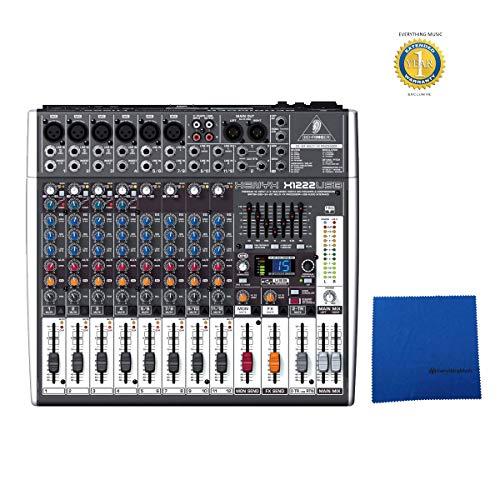 Behringer Xenyx X1222USB Premium 16-input 2/mezclador de 2-bus con 1año garantía extendida de everythingmusic libre
