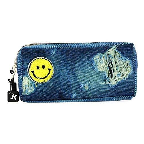 Senfort Jeans Bolsillo Suelto para Mochila, 21 cm, Parches