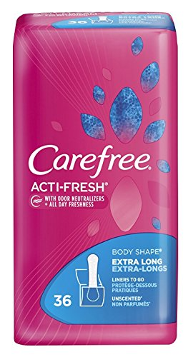 Carefree Acti-Fresh Extra Long 36 Count Liner To Go