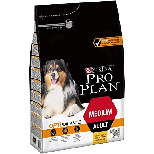 Purina Pro Plan – Aliment sec pour chien adulte moyen avec Optibalance 4 x 3 Kg