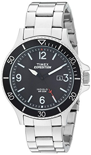 TIMEX Analogue Men's Watch (Black Dial Silver Colored Strap)