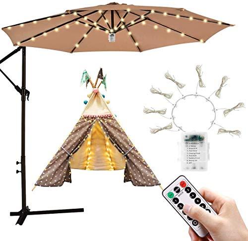 Luces de parasol | Luces de sombrilla para patio con 104 luces...