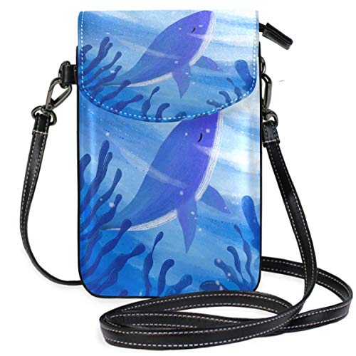 XCNGG Sea Blue Whale Cell Phone Purse Crossbody Bag Pouch Shoulder Bags Wallet for women Girls Travel