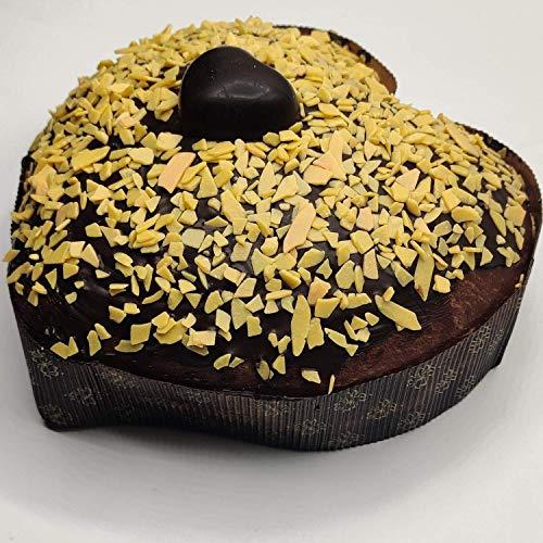Pasticceria Fraccaro Dolce Cuore di San Valentino - Prodotto Dolciario da Forno a Lievitazione Naturale con Gocce di Cioccolato e Farcitura di Crema all'arancia - 500 g