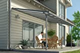 Hochwertige graue ALU Terrassenüberdachung/Veranda - 550 x 300 (BxT) / Überdachung...