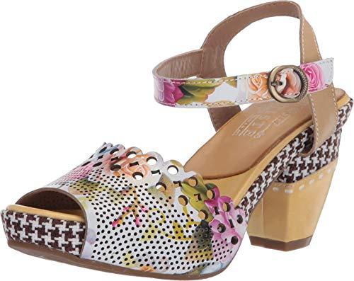 Spring Step L'Artiste Women's Jivvi Ankle Strap Shoe Yellow Multi EU 38 / US 7.5-8