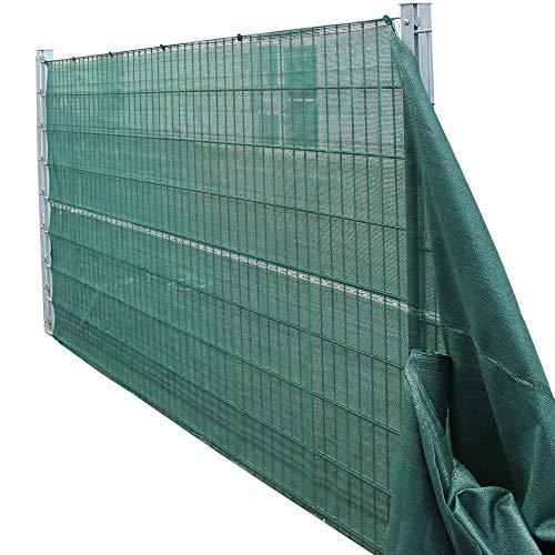 TOP MULTI 21715ga1828-0008 Tennis-Sichtschutz grün 1,60m x 25m, Zaun-Blende reißfest, UV-resistent, wetterfest