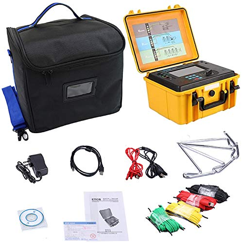 Four Wire Earth Ground Resistance Tester Meter Soil Resistivity Tester With Two Three Four Wire Soil Resistivity 9000kΩm 2000ohm