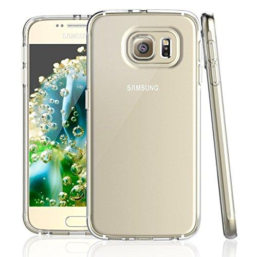 NEW'C Hülle für Samsung Galaxy S6 [Ultra transparent Silikon Gel TPU Soft] Cover Case Schutzhülle Kratzfeste mit Schock Absorption und Anti Scratch kompatibel Samsung Galaxy S6
