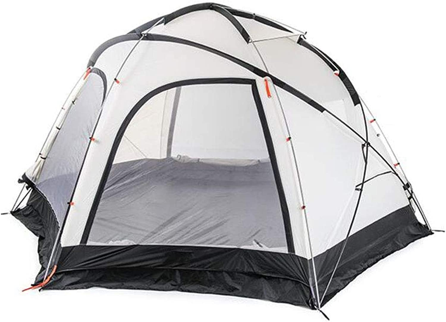 Anti-UV,SpaciousZelt, Outdoor wasserdichtes Zelt 5-8 Person Wandern Camping Waterproof OverGrößed Space Family Festival 4 Seasons Zelte,Gelb,400  345  213cm