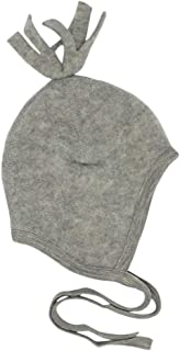 Baby Winter Hat with Ties: Toddler Infant Ear Protection Hat 6-24 months, Organic Merino Wool Fleece