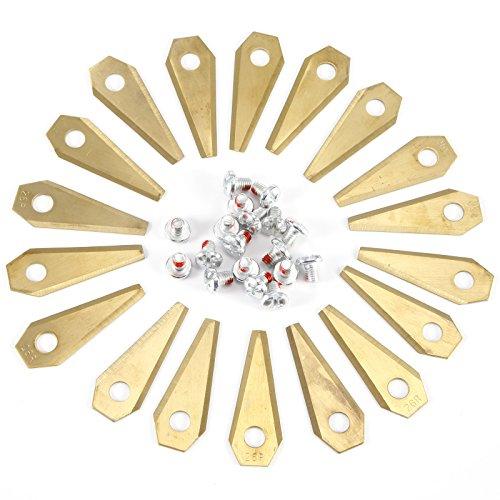 Anladia 18 x Titan Messer Klingen Ersatzmesser Messer Klingen für bosch indego