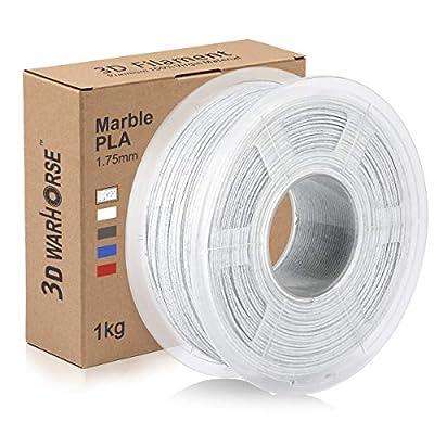 PLA Marble Filament, 1.75mm 3D Printer Filament, Upgrade PLA Marble 3D Printing Filament 1KG Spool, 0.02mm