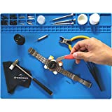 DREMINOVA Watch Opening Repair Tool Jewelry Working Mat Jeweler Anti-Slip Board Watchmaker, Crafting, Beading, Jewelry Making Supplies Tools (Blue)