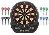 Best Sporting elektronische Dartscheibe Blackpool Dartboard mit 12 Dartpfeilen und Ersatzspitzen,...