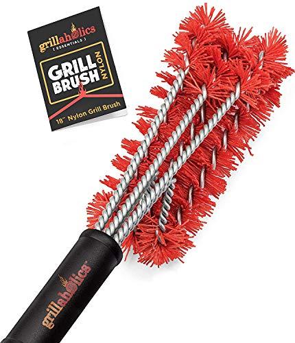 Grillaholics Essentials Nylon Grill Brush - Bristle Free Alternative -...
