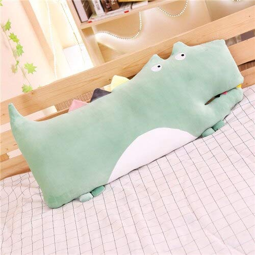 N / A Cute crocodile plush toy soft animal plush toy cute pillow child doll birthday gift for girl home decoration without battery 80cm