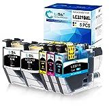 5 LxTek Ersatz Kompatibel für Brother LC3219XL LC3219 Druckerpatronen für Brother MFC-J5330DW...