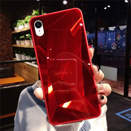 Paillettes Coque Compatible avec iPhone XR, Brillante Miroir Glitter Bling Coque Housse de Protection Ultra Mince Souple TPU Silicone Bumper Étui Antichoc pour iPhone XR,Rouge