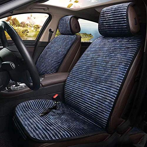 SLONG Auto Heizkissen Auto Doppelsitz Heizung Sitzheizung Pad Mit Rücken Heizung-Universal,Blue,Twoseat