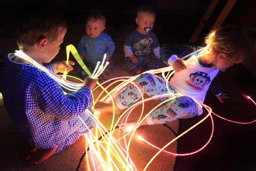 Big Save! UV Reactive Fiber Optic Sensory sideglow Lighting Kit Lighting Kit (200 Strands x 9.84') w...