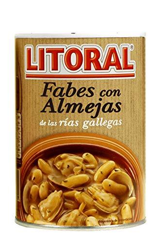 LITORAL Fabes con Almejas - Plato Preparado de Fabes con Almejas Sin Gluten - 440g