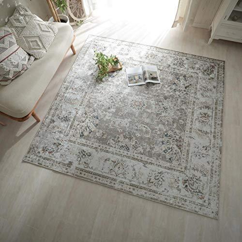 グラムスタイル ペルシャ 絨毯風 洗える ラグ カーペット 130x190cm ブラウン